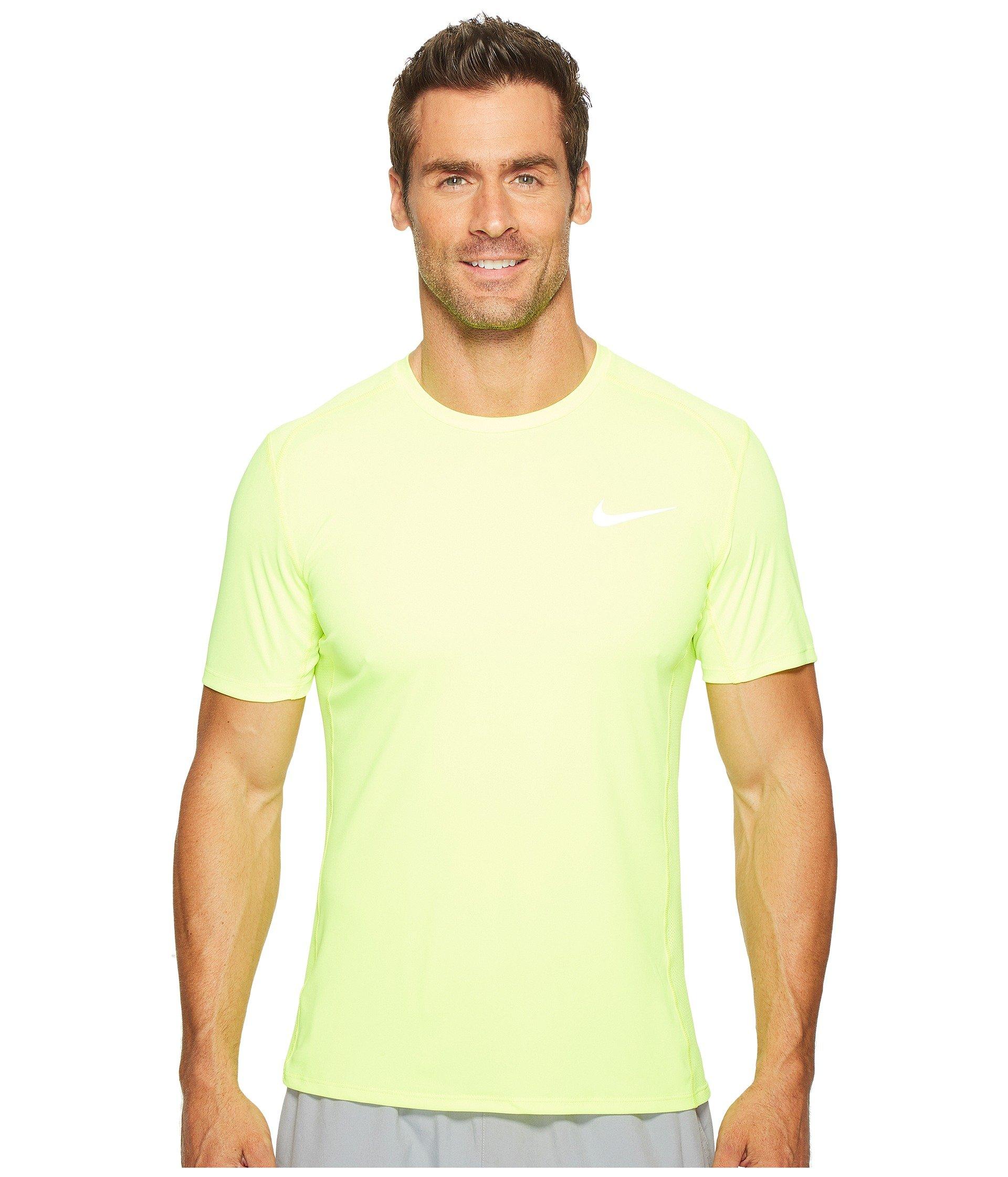 huge discount 960a8 2e0ce Nike Dry Miler Short Sleeve Running Top, Volt Volt