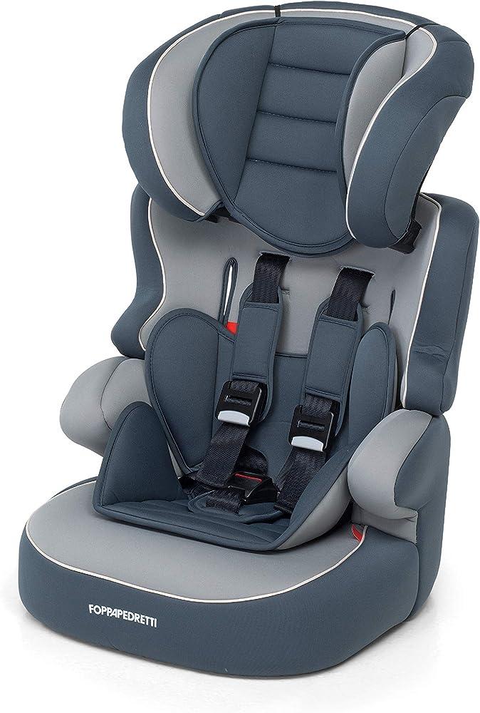 Foppapedretti babyroad - seggiolino auto, gruppo 1-2-3 (9-36 kg) per bambini da 9 mesi a 12 anni circa, gris 9700327200