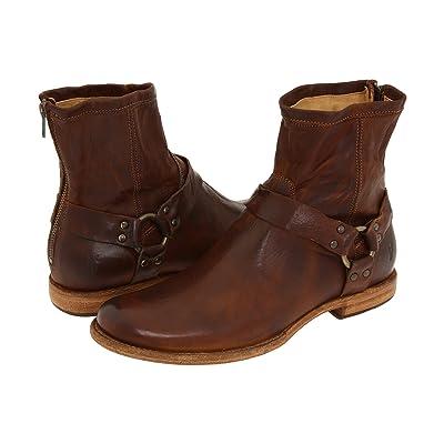 Frye Phillip Harness (Cognac Vintage Leather) Men