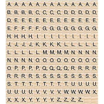 Madholly 169 pcs letras de madera scrabble letras scrabble letras madera, educación preescolar para niños, juegos significativos para amigos y familiares: Amazon.es: Hogar
