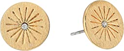 Rebecca Minkoff - Mini Medallion Starburst Stud Earrings
