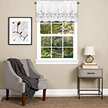 Sweet Home Collection Kitchen Window Curtain Tier, Swag, or Valance Treatment in Stylish and Unique Patterns and Designs for All Home Décor, Trellis Gray