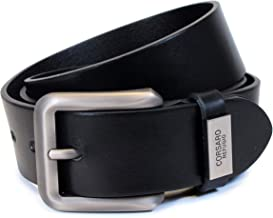Mens Real Genuine Leather Belt Black Brown White 1.5 Wide S-XL Casual Jeans AM0