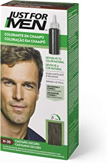 Just for men Tinte Colorante en champú para el cabello del hombre Elimina las canas y rejuvenece el cabello en 5 minutos...