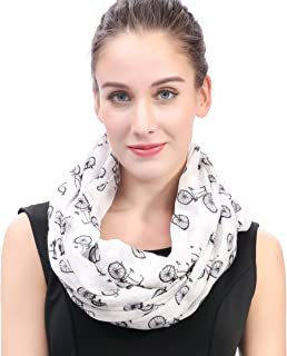 Lina & Lily Vintage Bicycle Print Loop Infinity Scarf for Women Lightweight