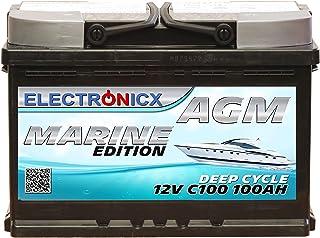 AGM batteri 100AH Electronicx Marine Edition båt fartygsförsörjningsbatteri 12 V batteri djup båt batteri bilbatteri solba...