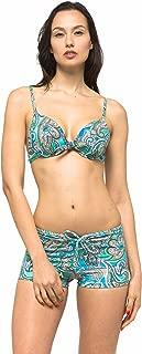 Women Front Tied Plus Size UPF 50+ Swim Board Shorts Rash Gaurd