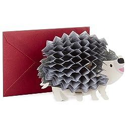 Hallmark Pop Up Birthday Card (3D Honeycomb Hedgehog)