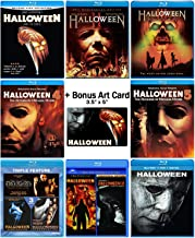 Halloween: Ultimate 11 Movie Collection: Complete Original + Rob Zombie Remake + 2018 Sequel Blu-ray Series + Bonus Art Card