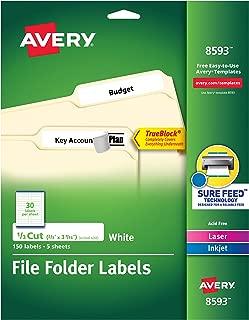 Avery File Folder Labels, 6667 x 3.4375