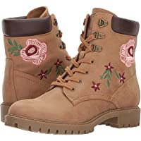 G by GUESS Women's Prinse Embroidered Hiking Boots