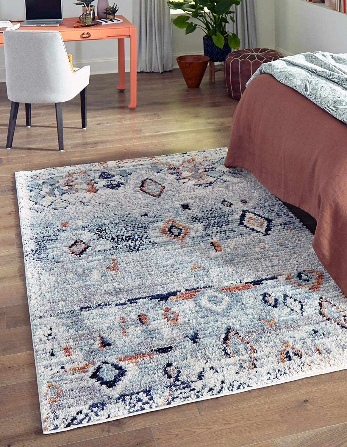 Max 80% OFF Baltimore Mall Rugs.com Morocco Collection Rug – 4' Light High-Pile Blue R 6' x
