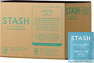 Stash Tea Licorice Spice Herbal Tea 100 Count Box of Tea Bags in Foil