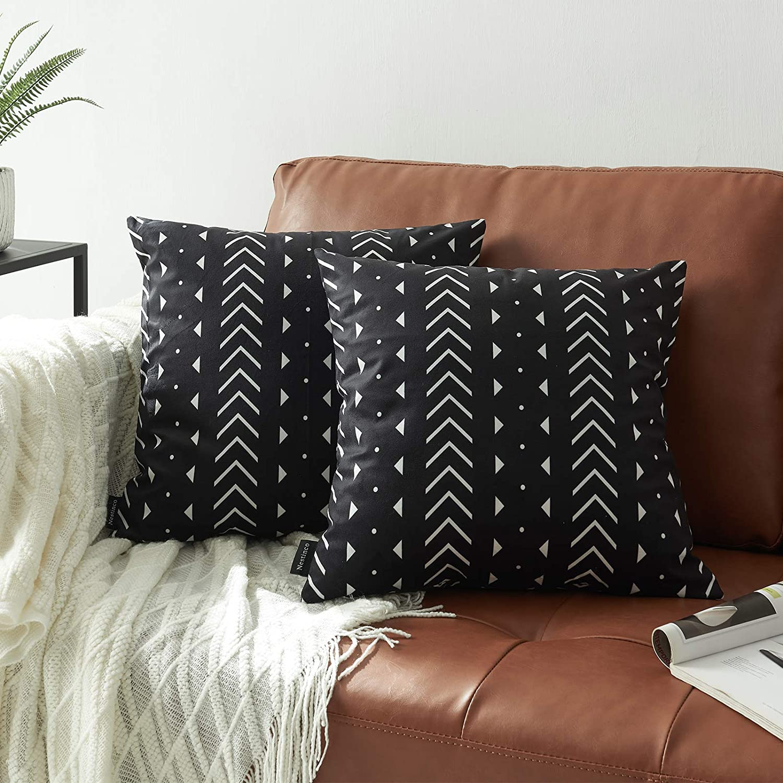 Nestinco Set of 2 Genuine Black Pillow inches Boho Covers x Tribal Max 64% OFF 18