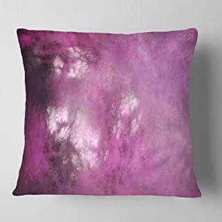 Designart Blur Pink Sky with Stars' Abstract Throw Cushion Pillow Cover for Living Room, Sofa 18 in. x 18 in