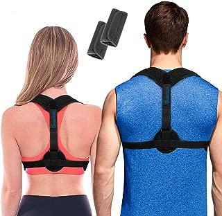 Posture Corrector for Women & Men + Underarm Pads - Upper Back Spine Straightener Correction Slouching Brace - Best Upright Trainer Support Device for Under Clothes, Shoulder Support by Inspiratek
