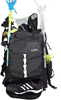 Athletico Lacrosse Bag - Extra Large Lacrosse Backpack - Holds All Lacrosse or Field Hockey Equipment - Two Stick Holders ...