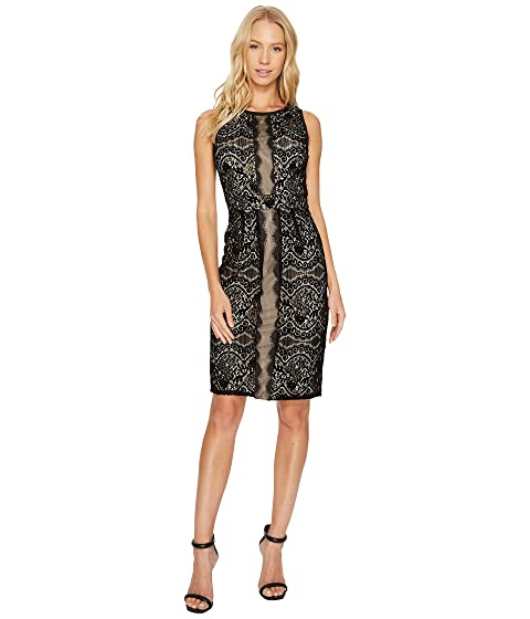Mixed media lace dress