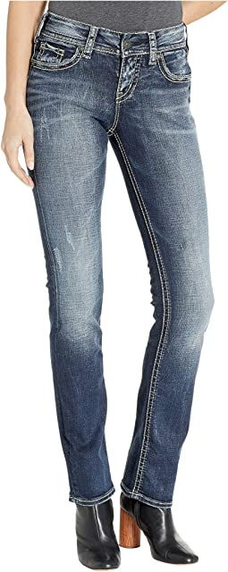 Suki Mid-Rise Well Defined Curve Mid Straight Jeans in Indigo