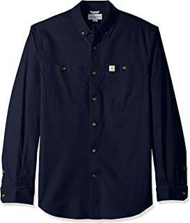 Carhartt Men's Rugged Flex Rigby Long-Sleeve Work Shirt Utility Button