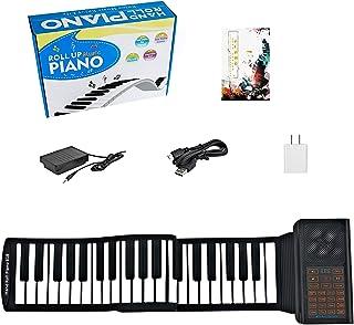 61 Keys Portable Piano Electric Piano Keyboard Hand Roll Pia