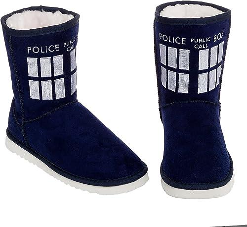Doctor Who La La La Femme médecin Qui Tardis démarrage Chaussons f76