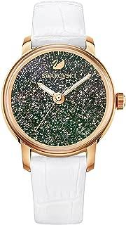 Ladies' Swarovski Crystalline Hours White Strap Rose Gold Dial Watch 5344635