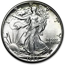 1944 Walking Liberty Half Dollar BU 1/2 Bright White Brilliant Uncirculated US Mint