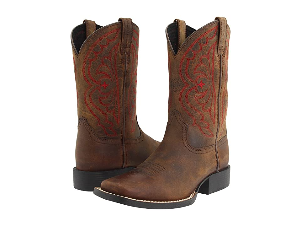 Ariat Kids Quickdraw (Toddler/Little Kid/Big Kid) (Distressed Brown) Cowboy Boots