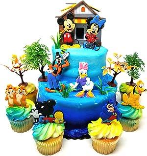 Brilliant Amazon Co Uk Mickey Mouse Cake Decorations Decorations Toys Personalised Birthday Cards Paralily Jamesorg