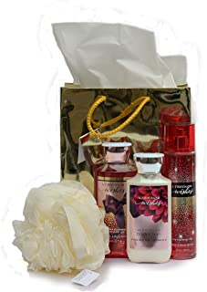 bath body works a thousand wishes the daily trio gift set full size - body lotion - shower gel and fragrance mist
