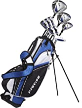 Precise NX460 Men's Complete Golf Clubs Package Set Includes Driver, S.S. Fairway, S.S. Hybrid, 5 Stainless Irons, Putter, Stand Bag, 3 H/C's Right Hand