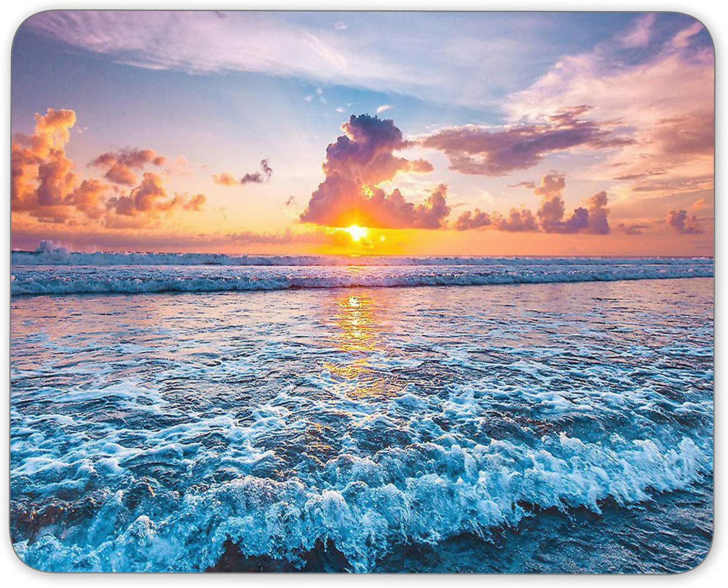 Office Mouse Pad Sunset On Choice The Rubber Ocean Natural Mo Topics on TV Non-Slip