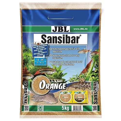 JBL Sansibar ORANGE 5kg - Substrat de sol fin - Couleur orange - Pour aquariums d'eau douce ou d'eau de mer