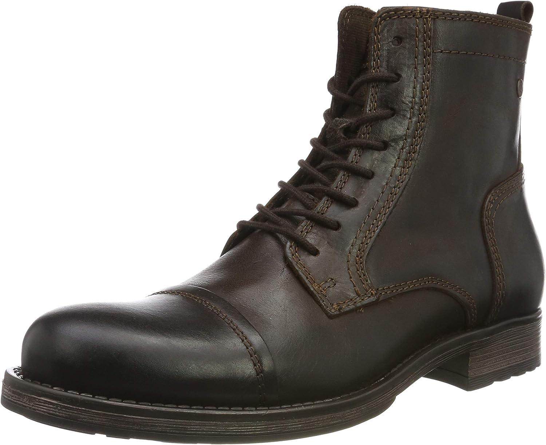 Jack /& Jones Hounslow Leather Work Boots