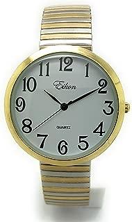 Ladies Mens Big Numbers Stretch Elastic Band Fashion Watch Eikon