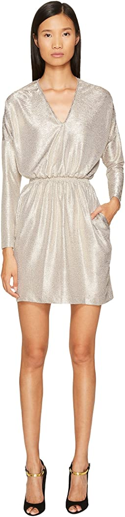 Just Cavalli - Long Sleeve V-Neck Sparkled Dress