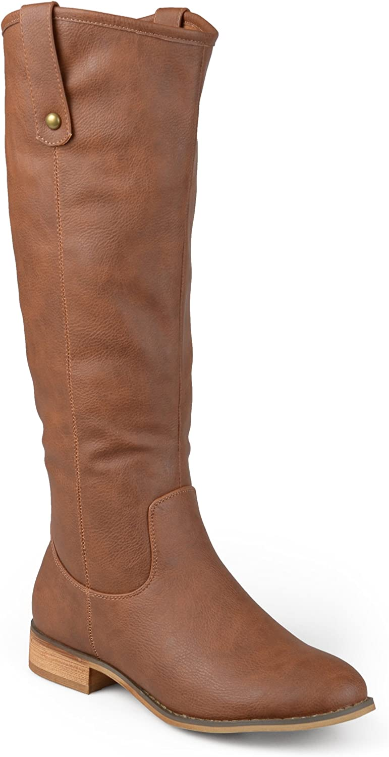 Journee Collection Womens Regular, Wide and Extra Wide Calf Round Toe Mid-Calf Boots