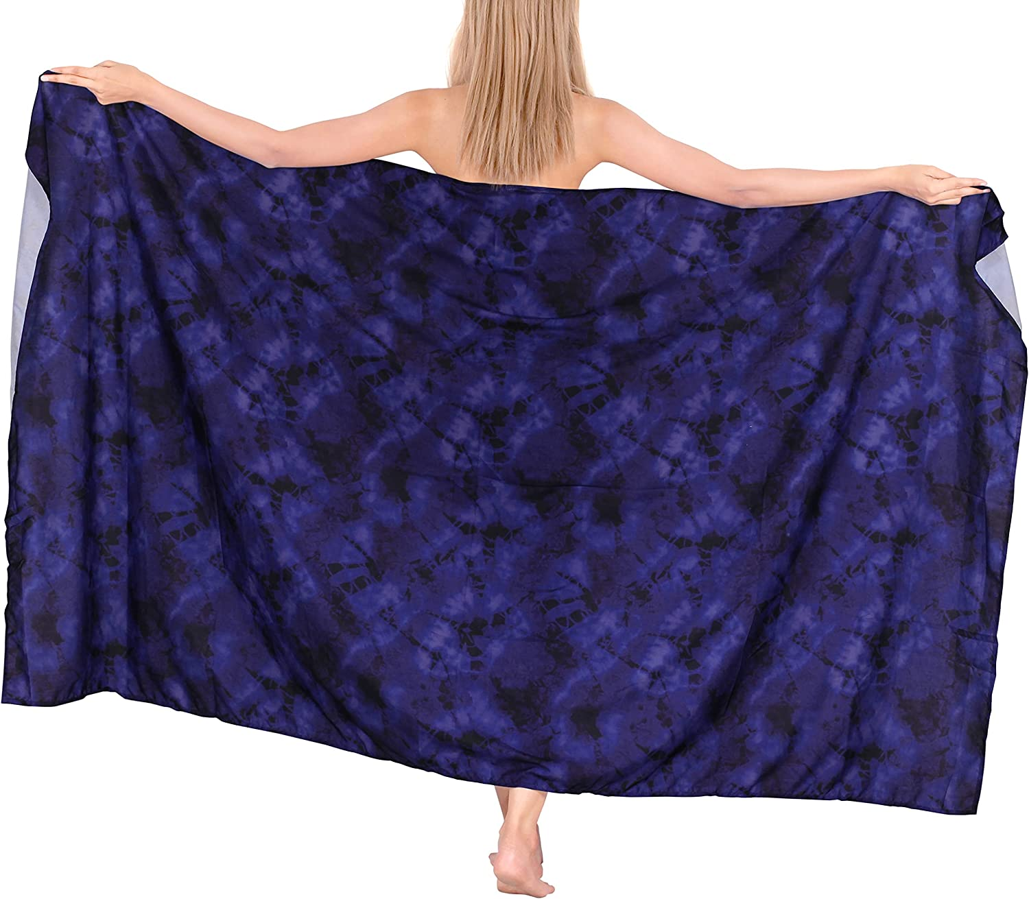 HAPPY BAY Women's Swimsuit Cover Ups Tie Dye Print Sarongs for The Beach Wrap