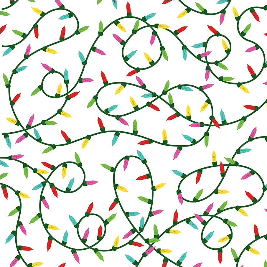 American Crafts 341348 Christmas Lights Paper, Multicolor