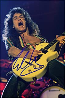 Good With Wood Yorkshire Eddie Van Halen 1 Reproduction Autograph photogragh Picture Poster A4 Print (Unframed)