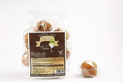 Magdalenas Mdalen   40 Uds, Rellenas de Chocolate   SIN GLUTEN, SIN LACTOSA   5 Sabores   Elaboradas en España de forma Tradicional.