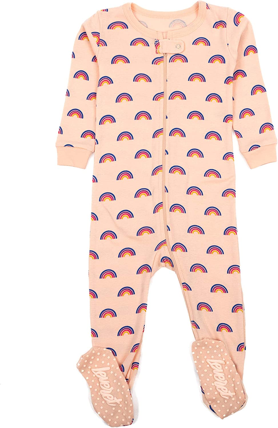 Leveret Kids Pajamas Baby Boys Footed Girls Sleeper 100% Max 2021new shipping free shipping 49% OFF