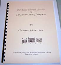 The early Thomas Carters of Lancaster County, Virginia