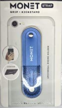 MONET Universal Phone Grip + Kickstand with Adjustable Strap - Solid Blue