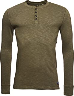 Superdry Legacy LS Henley Camisa Hombre