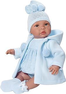 Muñecos bebe - Leo trenca azul - Muñecas ASI