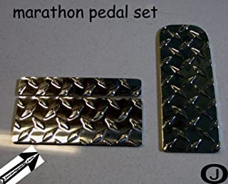 Ezgo Marathon Golf Cart Diamond Plate Pedal Set