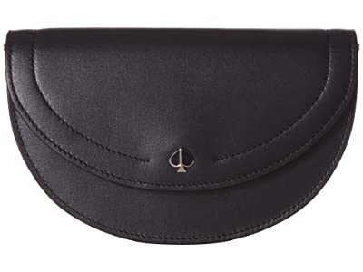 Kate Spade New York Andi Small Half Moon Belt Bag (Black) Handbags
