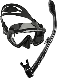 Cressi Panoramic Wide View Mask & Dry Snorkel Kit for Snorkeling, Scuba Diving | Pano 3 & Supernova Dry: designed in Italy